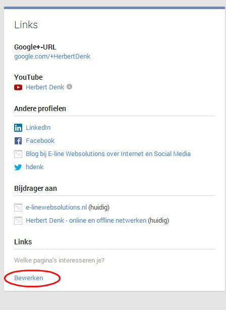 Auteurschap toevoegen aan Google+
